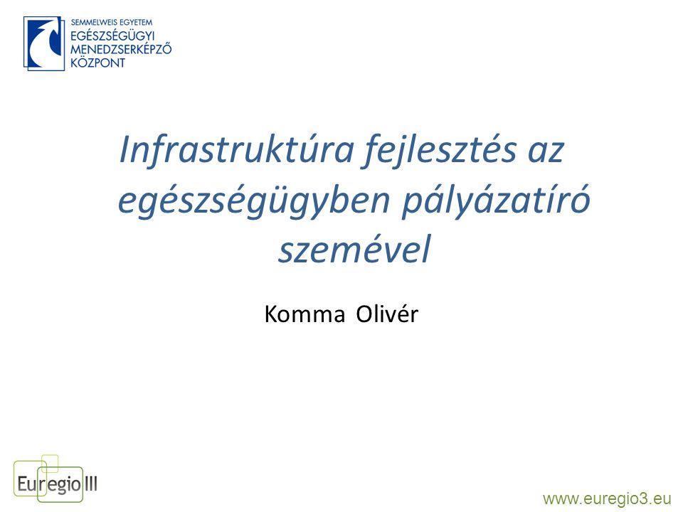 Infrastruktúra fejlesztés az egészségügyben pályázatíró szemével