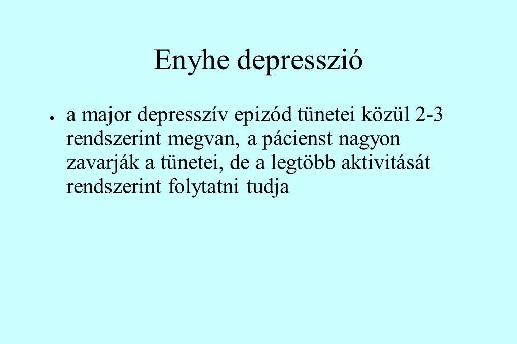 Enyhe depresszió
