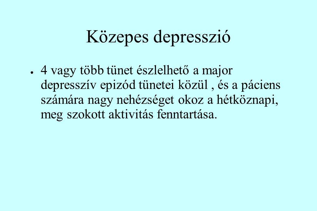 Közepes depresszió