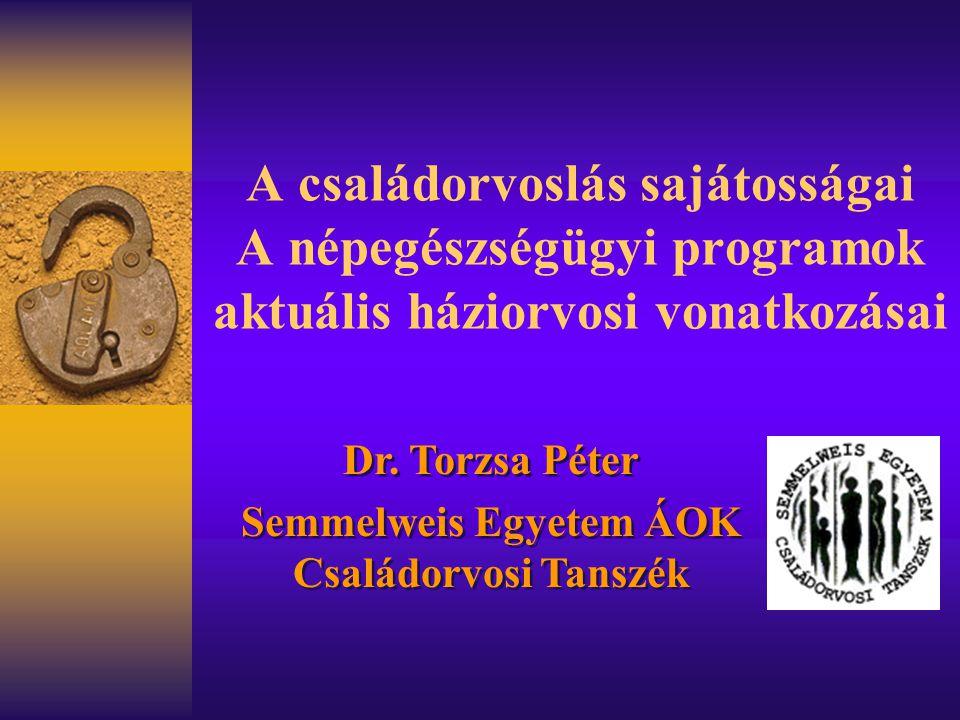 Semmelweis Egyetem ÁOK Családorvosi Tanszék