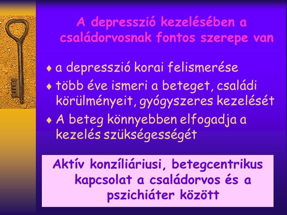 A depresszió kezelésében a családorvosnak fontos szerepe van