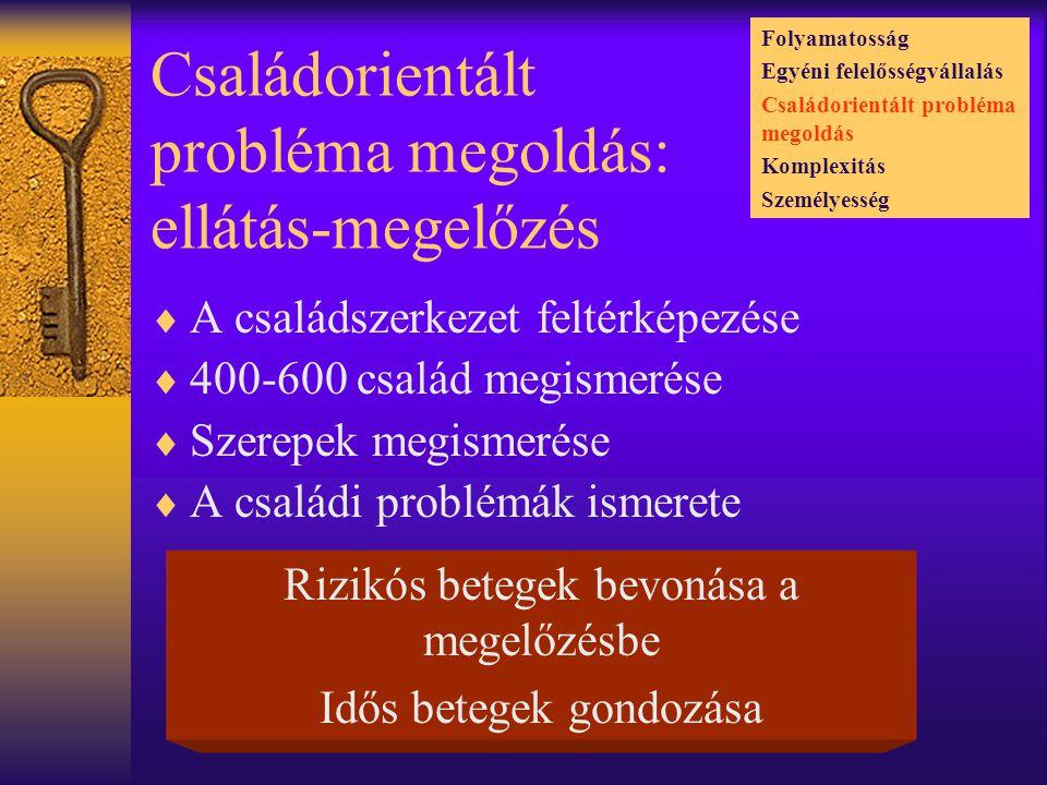 Családorientált probléma megoldás: ellátás-megelőzés