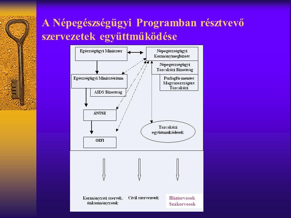 A Népegészségügyi Programban résztvevő szervezetek együttműködése