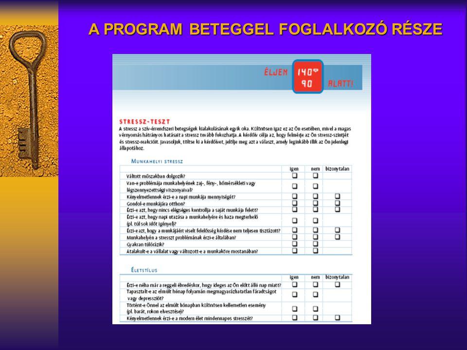 A PROGRAM BETEGGEL FOGLALKOZÓ RÉSZE