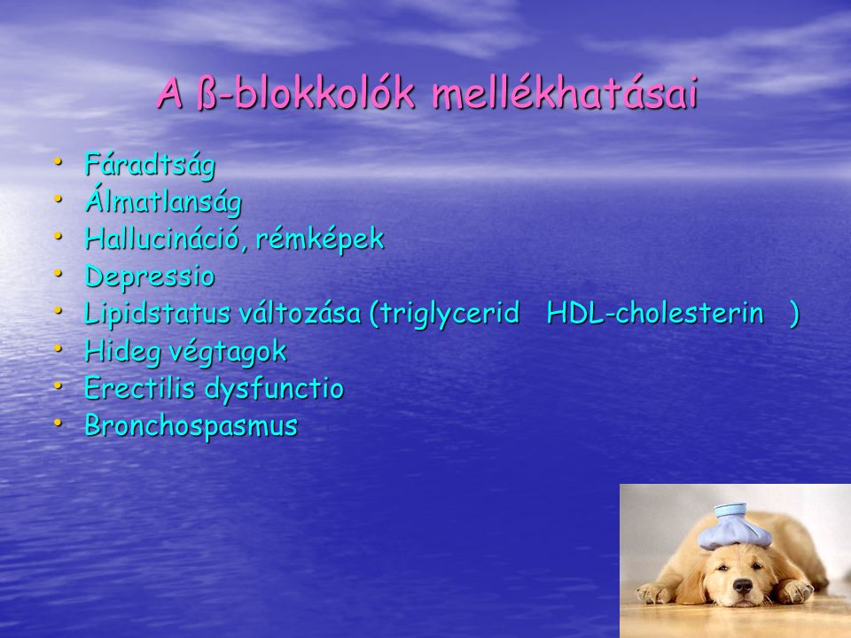 A ß-blokkolók mellékhatásai