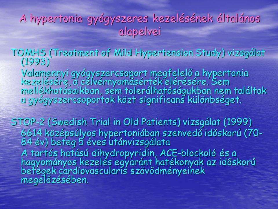 A hypertonia gyógyszeres kezelésének általános alapelvei