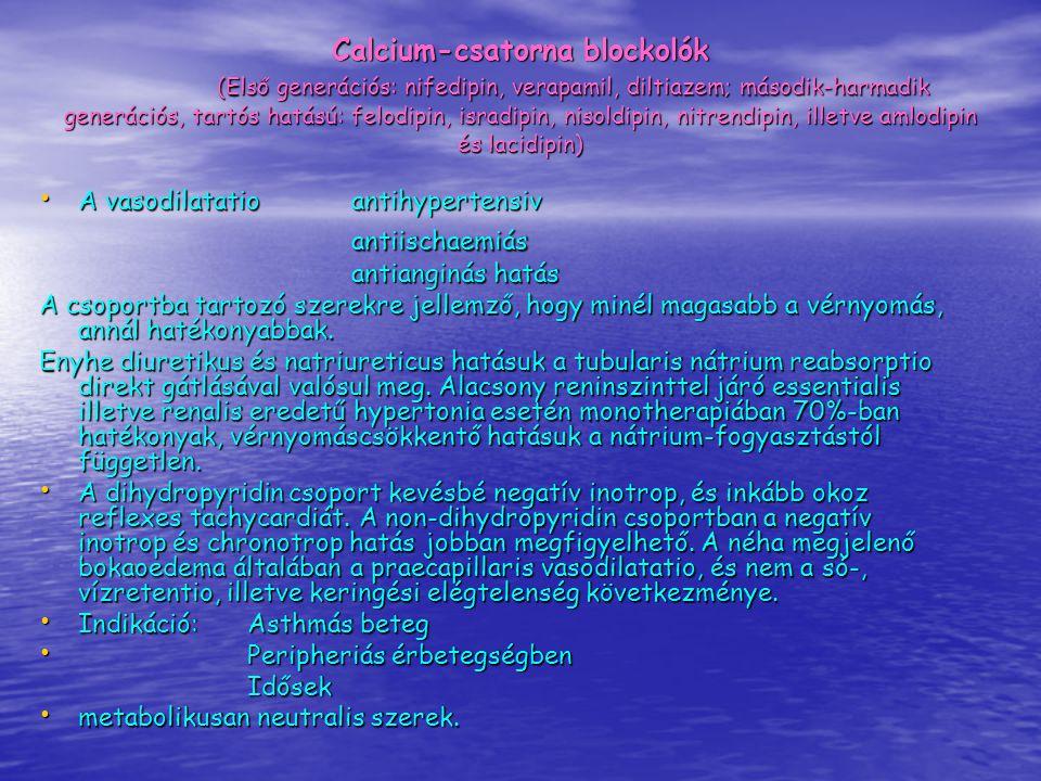 Calcium-csatorna blockolók