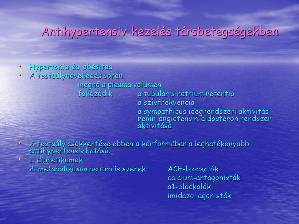 Antihypertensiv kezelés társbetegségekben