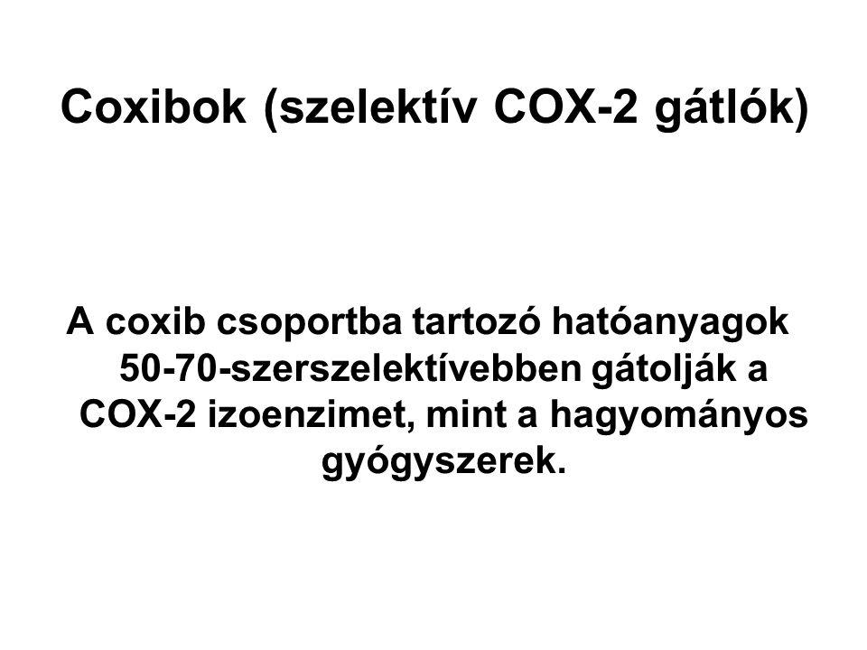Coxibok (szelektív COX-2 gátlók)