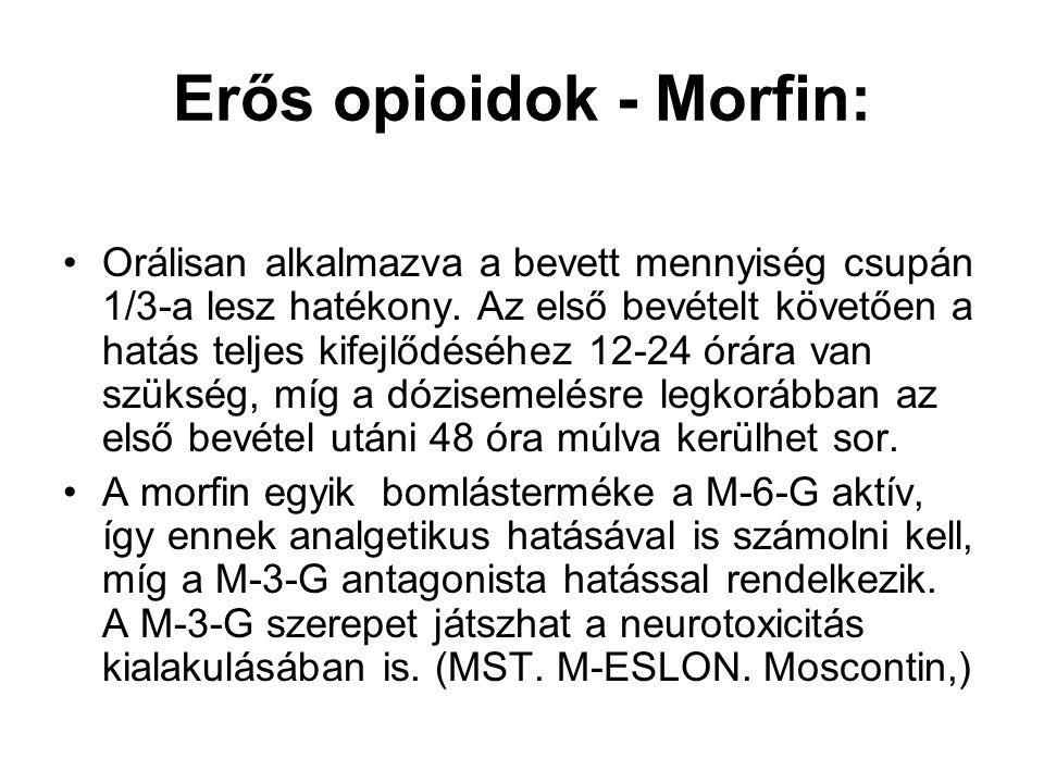 Erős opioidok - Morfin: