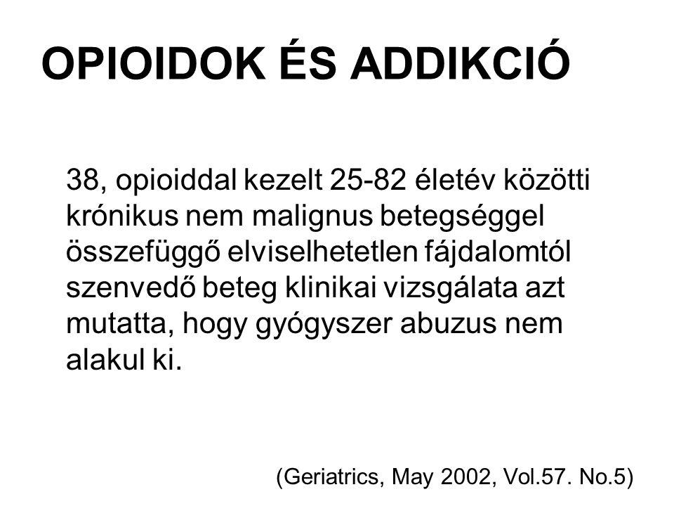 OPIOIDOK ÉS ADDIKCIÓ