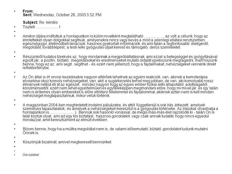 From: Sent: Wednesday, October 26, 2005 5:52 PM Subject: Re: kérdés