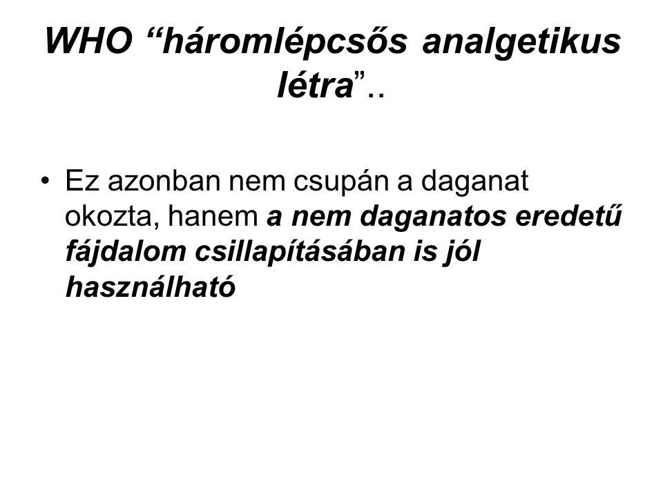 WHO háromlépcsős analgetikus létra ..