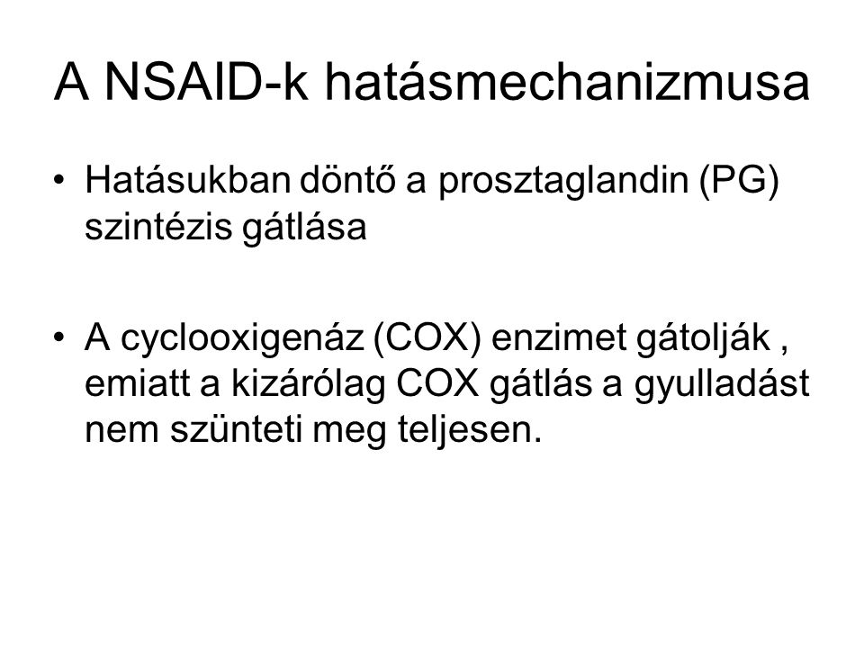 A NSAID-k hatásmechanizmusa