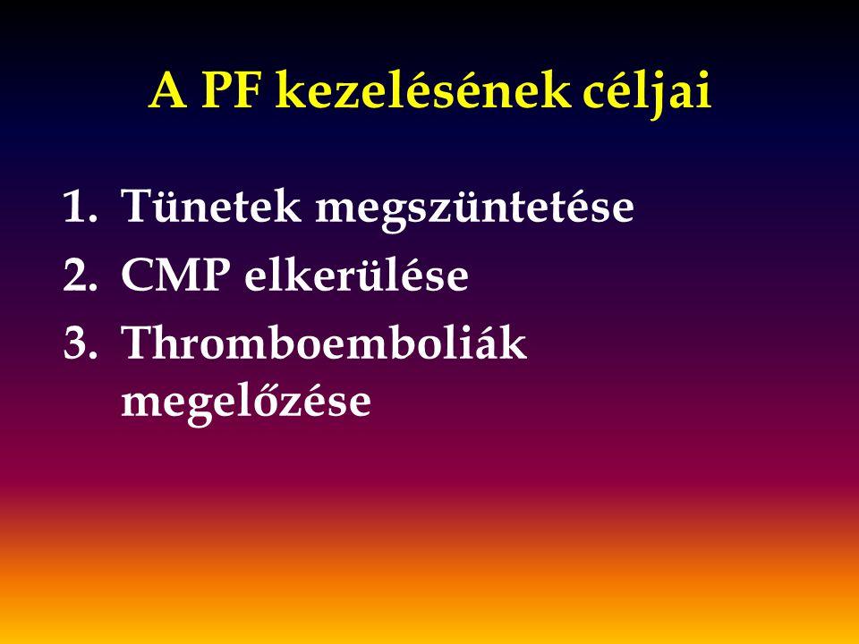 A PF kezelésének céljai