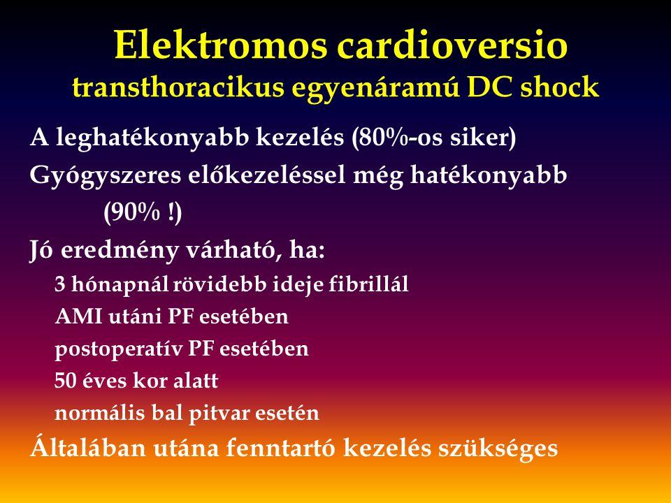 Elektromos cardioversio transthoracikus egyenáramú DC shock