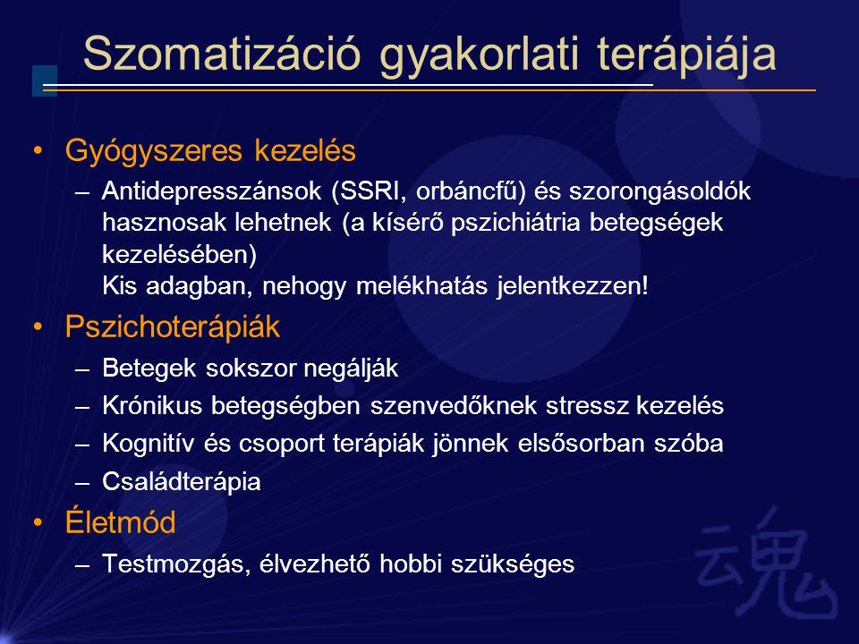 Szomatizáció gyakorlati terápiája