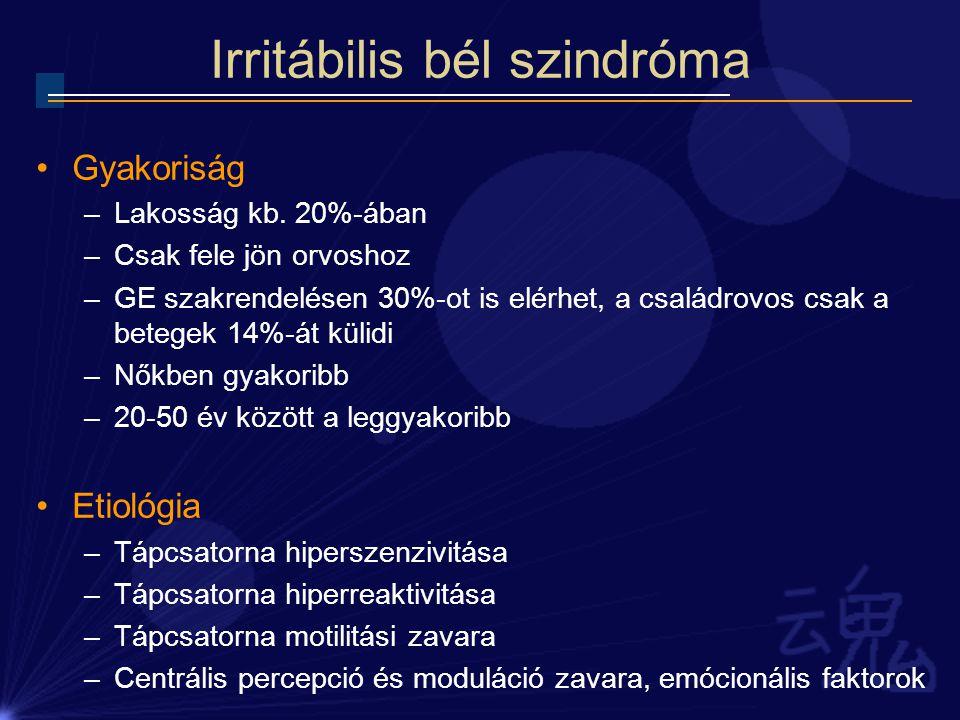 Irritábilis bél szindróma