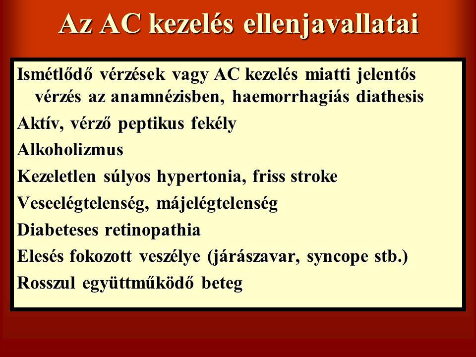 Az AC kezelés ellenjavallatai