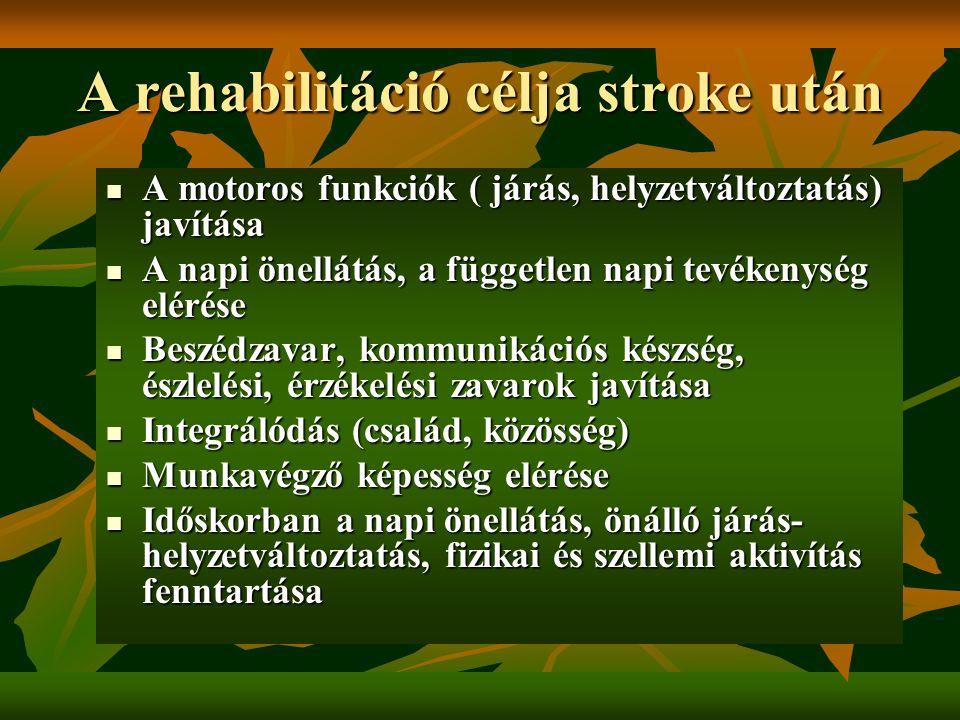 A rehabilitáció célja stroke után