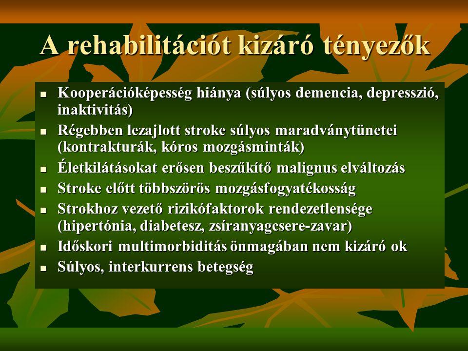 A rehabilitációt kizáró tényezők