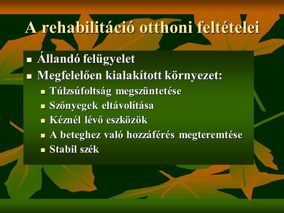 A rehabilitáció otthoni feltételei