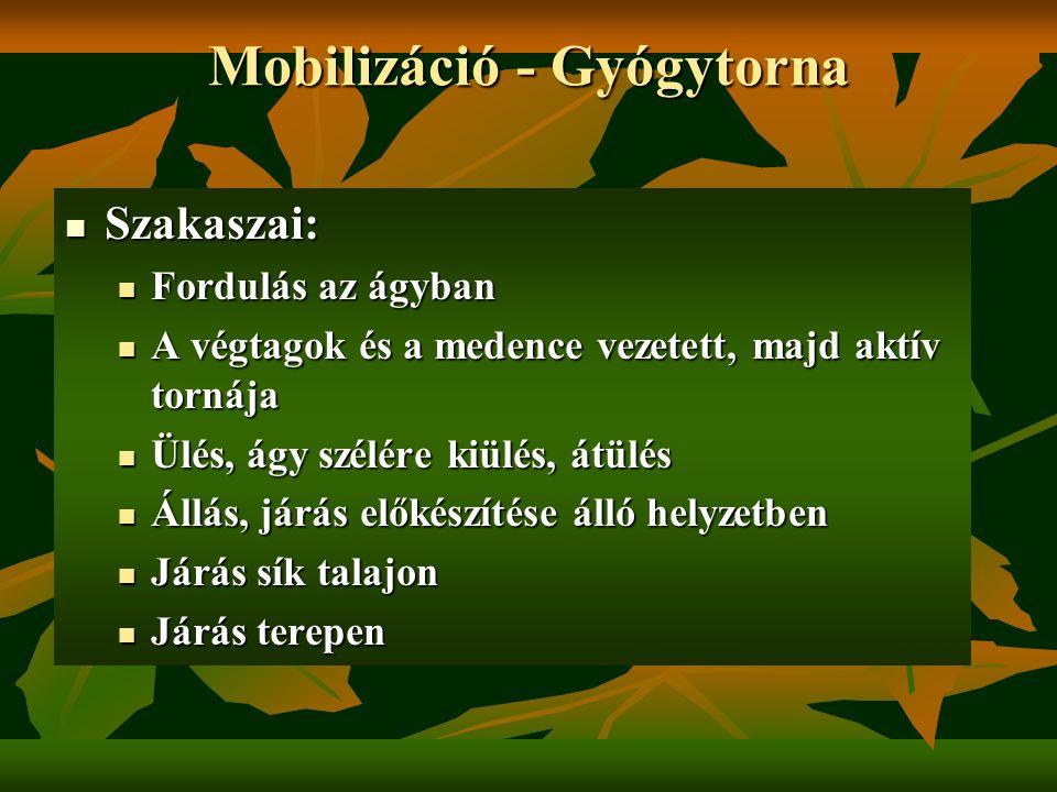 Mobilizáció - Gyógytorna