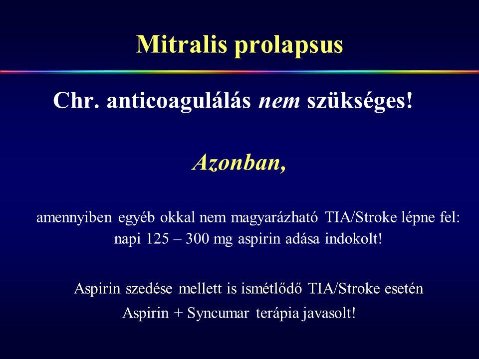Mitralis prolapsus Azonban,