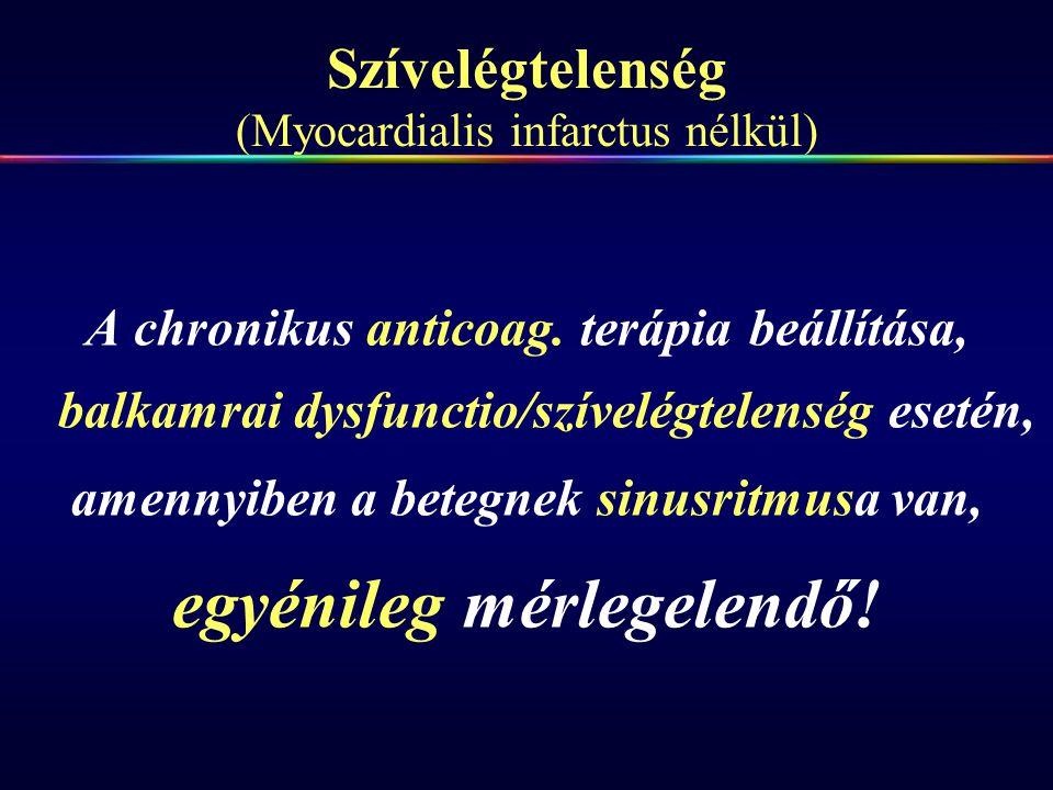 Szívelégtelenség (Myocardialis infarctus nélkül)