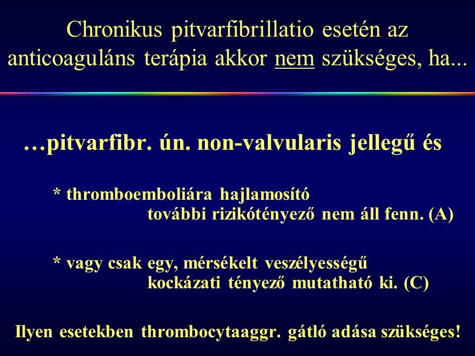 Ilyen esetekben thrombocytaaggr. gátló adása szükséges!
