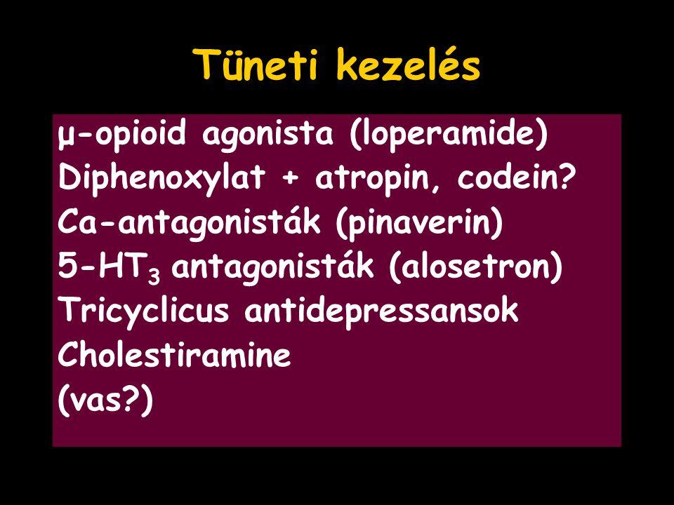 Tüneti kezelés μ-opioid agonista (loperamide)