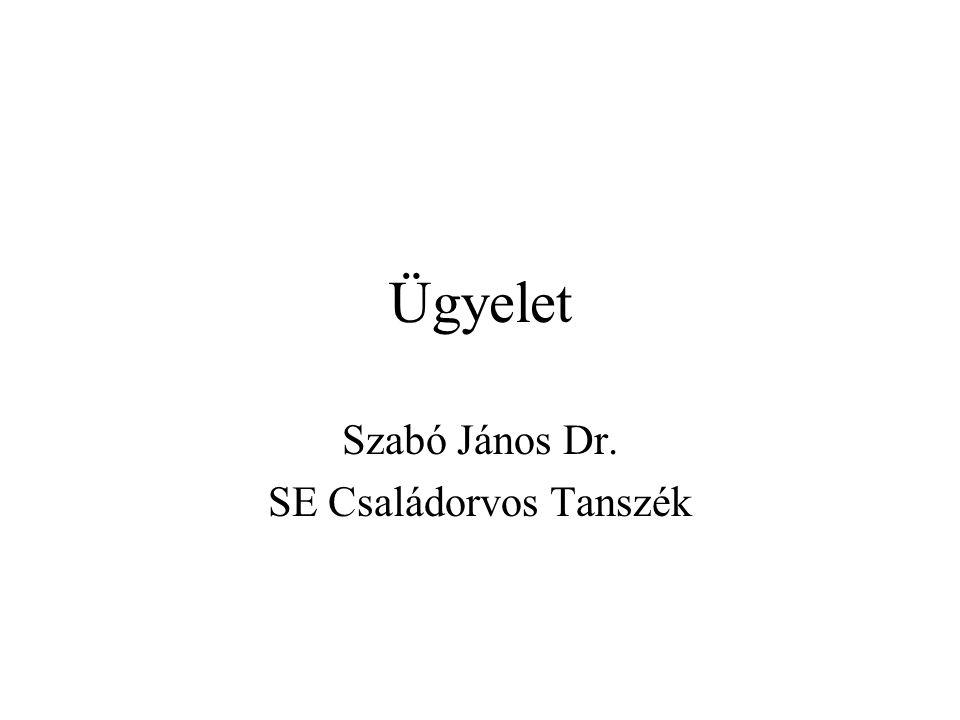 Szabó János Dr. SE Családorvos Tanszék
