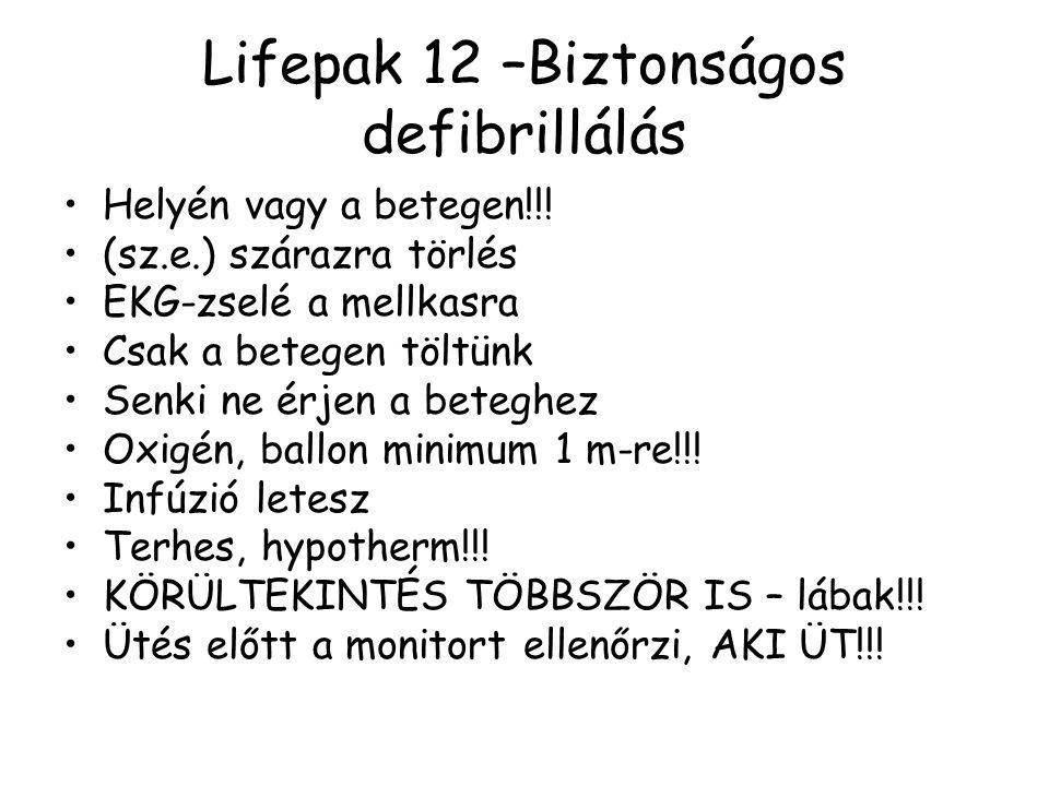 Lifepak 12 –Biztonságos defibrillálás