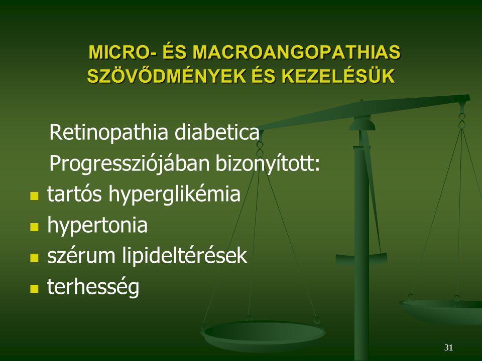 MICRO- ÉS MACROANGOPATHIAS SZÖVŐDMÉNYEK ÉS KEZELÉSÜK