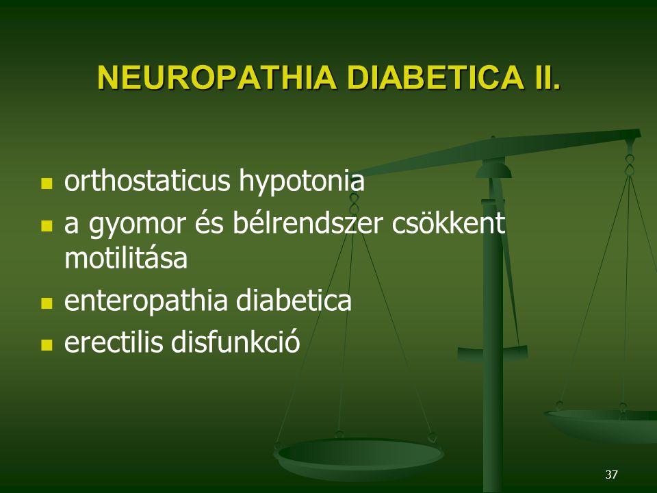 NEUROPATHIA DIABETICA II.