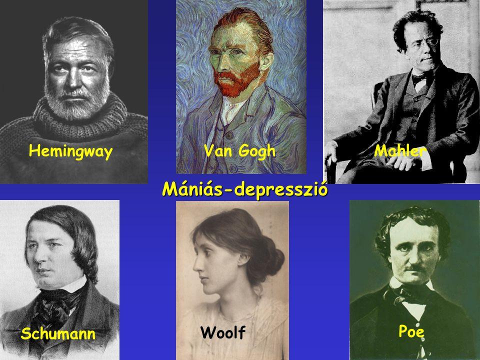 Hemingway Van Gogh Mahler Mániás-depresszió Schumann Woolf Poe