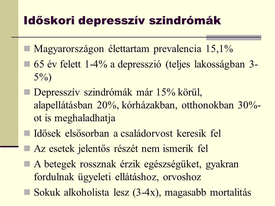 Időskori depresszív szindrómák