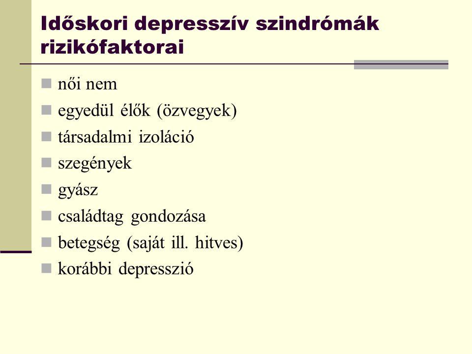 Időskori depresszív szindrómák rizikófaktorai