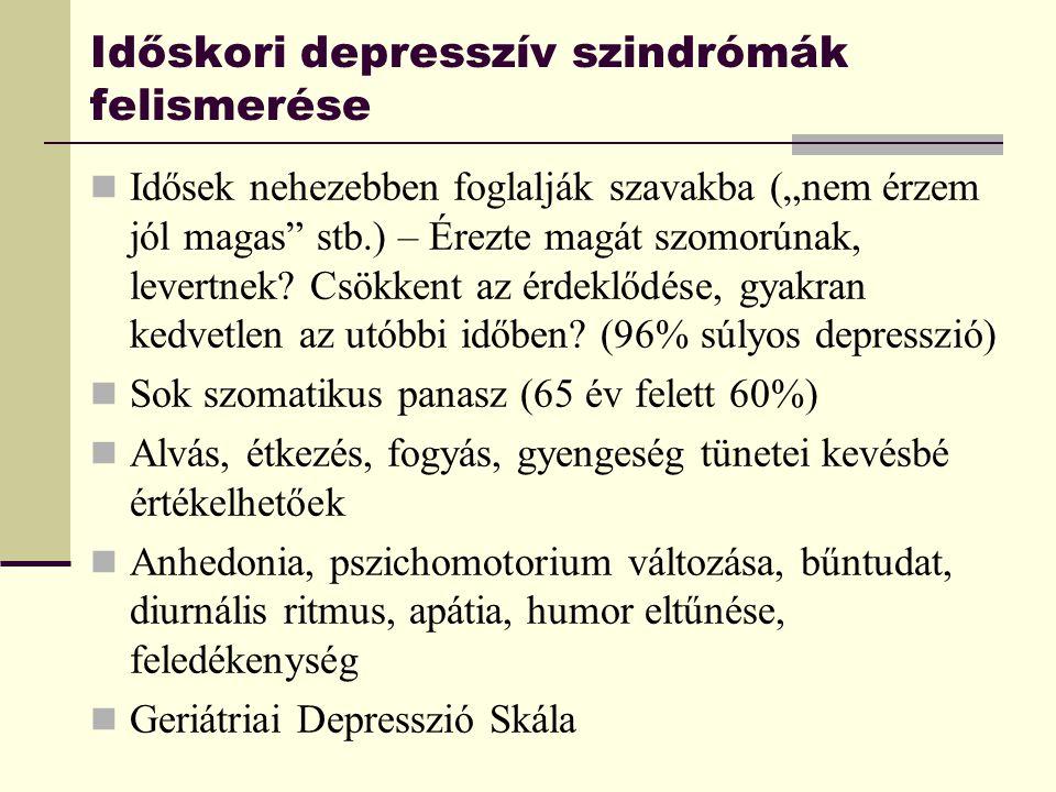 Időskori depresszív szindrómák felismerése