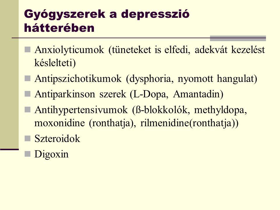 Gyógyszerek a depresszió hátterében