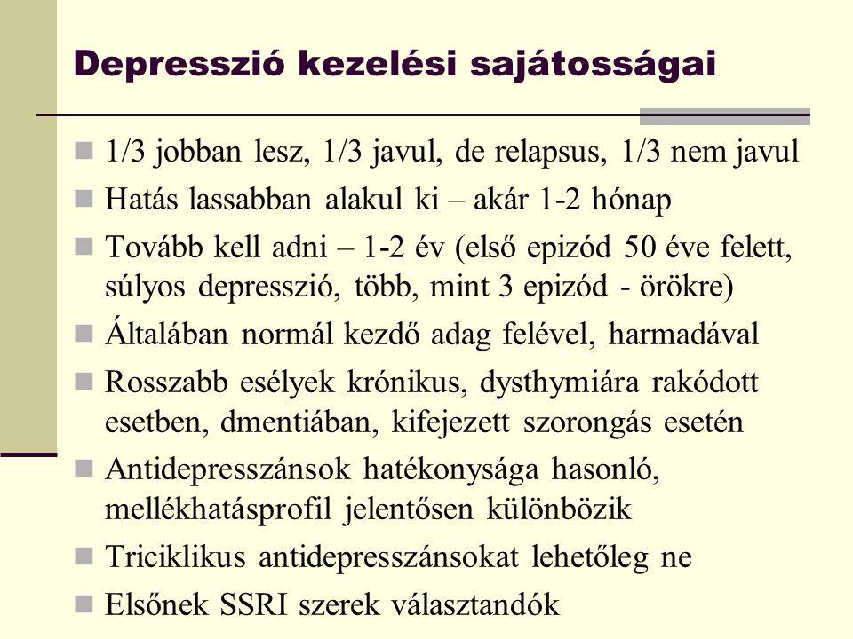 Depresszió kezelési sajátosságai