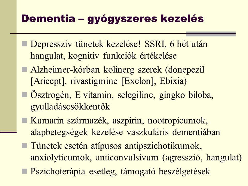 Dementia – gyógyszeres kezelés