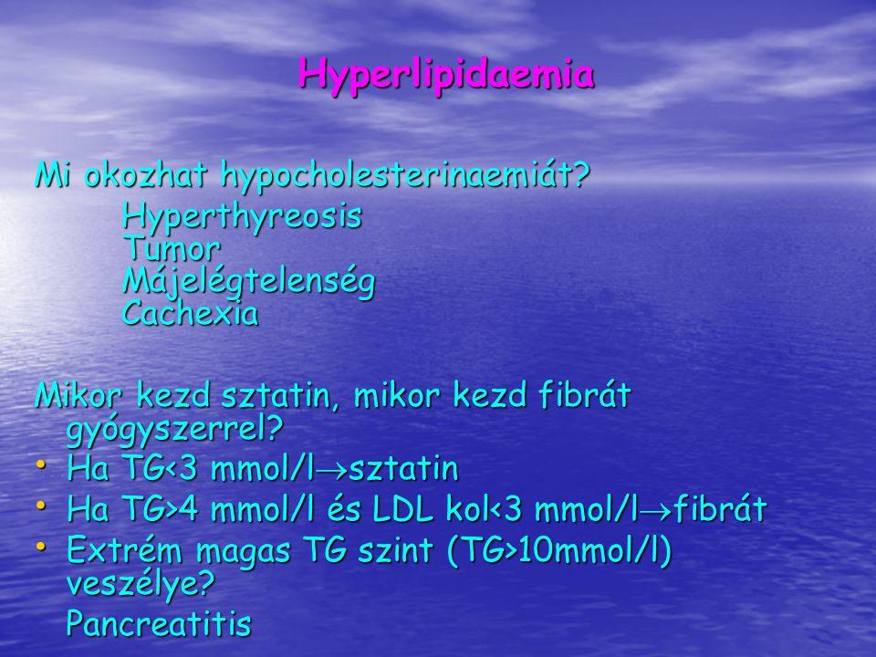 Hyperlipidaemia Mi okozhat hypocholesterinaemiát