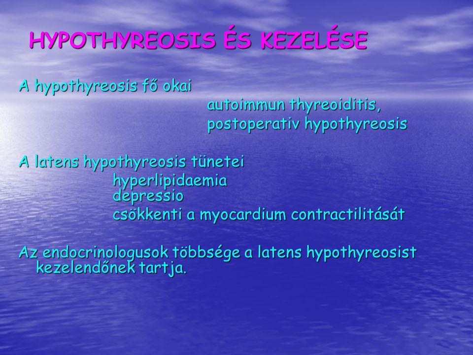 HYPOTHYREOSIS ÉS KEZELÉSE