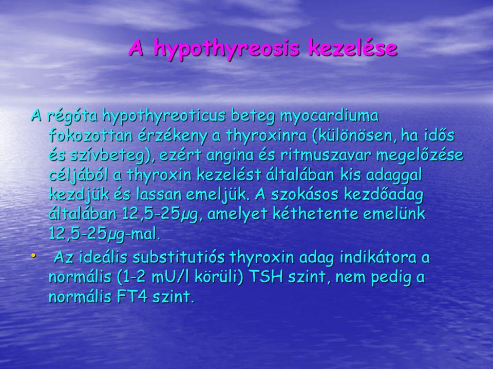 A hypothyreosis kezelése