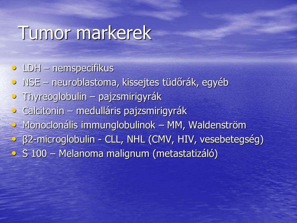 Tumor markerek LDH – nemspecifikus