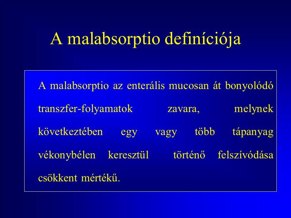 A malabsorptio definíciója