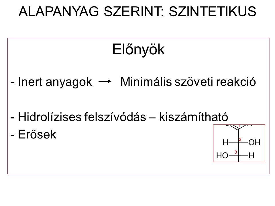 ALAPANYAG SZERINT: SZINTETIKUS