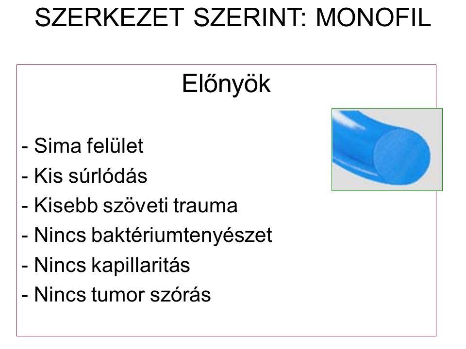 SZERKEZET SZERINT: MONOFIL