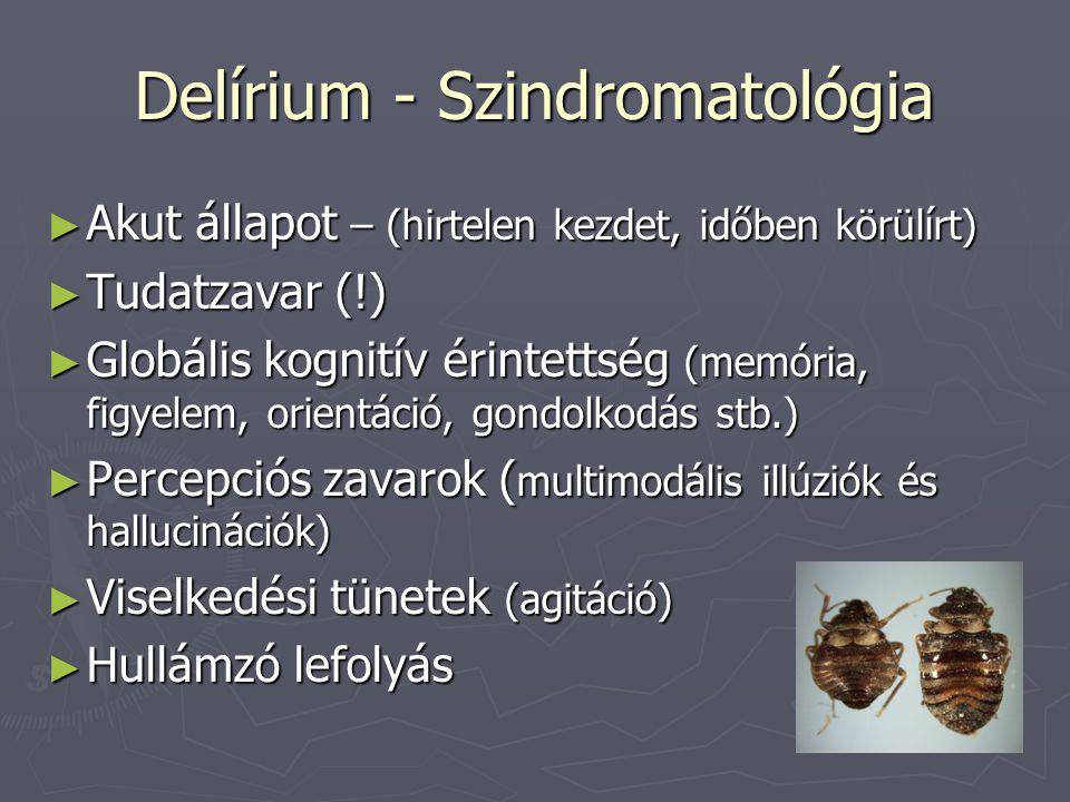 Delírium - Szindromatológia